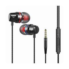 אוזניות סיליקון IN-EAR מתכתי שחור