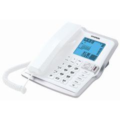 טלפון משרדי צג גדול לבן