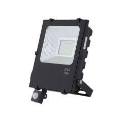 תאורת הצפה דלתא 50W אור יום משולב חיישן
