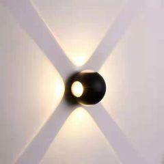 צמוד קיר 12W TIPO שחור 4 צדדים- אור חם