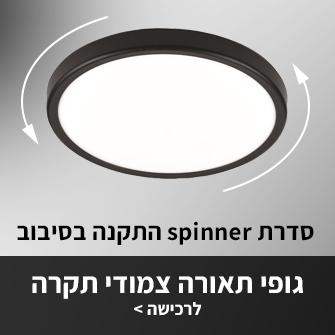 גופי תאורה צמודי תרקה עם מנגנון התקנה ייחודי להתקנה קלה במיוחד
